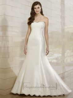 Elegant Fit and Flare Lace Appliques Sweetheart Wedding Dresses