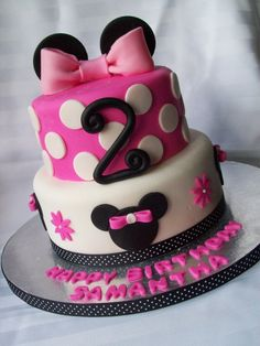 Minnie Mouse Cake. I wish I cud make a cake like this for Sophia's bday!!!