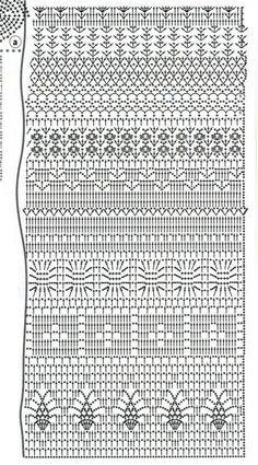 Fabulous Crochet a Little Black Crochet Dress Ideas. Georgeous Crochet a Little Black Crochet Dress Ideas. Crochet Stitches Chart, Filet Crochet Charts, Crochet Motifs, Crochet Diagram, Crochet Shawl, Crochet Lace, Crochet Hooks, Crochet Patterns, Crochet Skirts