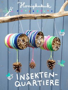 – Honigkukuk Insektenquartiere aus Blechdosen basteln Related posts:Decorate crafts letters with small objects 🙂 -- A ton of DIY super easy kids cr.Adorable AmigurumiEasy Caterpillar Craft for. Bug Hotel, Insect Hotel, Insect Crafts, Nature Crafts, Kids Crafts, Diy And Crafts, Recycled Crafts, Easy Crafts, Garden Crafts For Kids