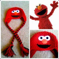 Crochet Elmo Hat - FREE pattern (need to add braids