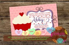 Valentine's Day Birthday by InvitasticInvites on Etsy