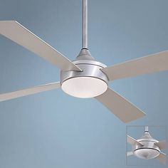 "52"" Minka Aire Aluma Wet Brushed Aluminum Ceiling Fan - #6C512 