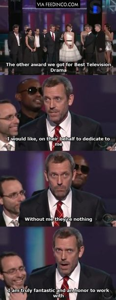Hugh Laurie's acceptance speech