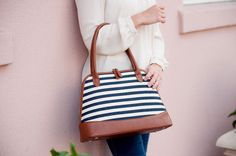 Purse - Chandler Stripe | Gentry California | $46 | Click link to shop: http://www.gentrycalifornia.com/collections/monogrammed-bags-accessories/products/purse-chandler-stripe