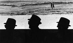Men In Hats People Watch On Revere Beach