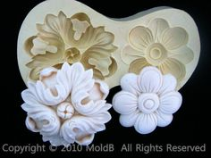 Silicone molds Sugarcraft Moulds Polymer Clay Cake Border by MOLDB