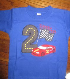 Race Car Hot Wheels Themed Birthday Shirt   Ready to Ship  This one only by mimisbabies, $10.00