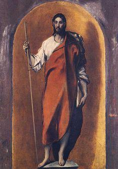 Imagen de Santiago el Mayor Peregrino, del Greco. Museo de Santa Cruz de Toledo.