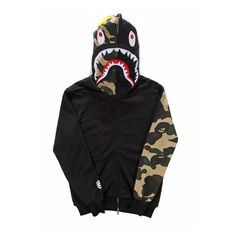 [Fashion brand] mens Clothing BAPE shark Hoodies lovers hoody... ❤ liked on Polyvore featuring men's fashion, men's clothing, men's hoodies, mens grey hoodies, mens fleece hoodies, mens hoodies and mens sweatshirts and hoodies