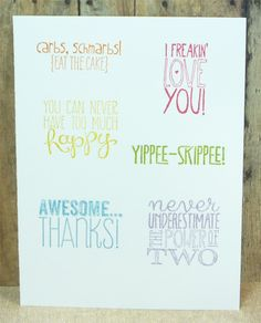 Yippee-Skippee Index by galleryindex - Cards and Paper Crafts at Splitcoaststampers