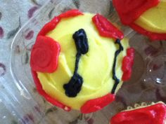 The Iron Man cupcake for Stevens party