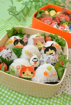 Yokai watch picnic bento