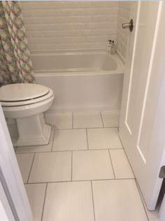 Fabrique 12x12 Blanc Linen P685 Brick Joint Floor Tile