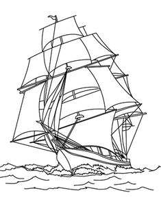 Pirate Fishing Boat Coloring Pages : Kids Play Color Boat Drawing, Drawing Sketches, Drawings, Shark Coloring Pages, Coloring Pages For Kids, Dragon Tattoo Stencil, Boat Sketch, Nautical Drawing, Kids Boat