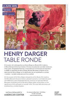 Table ronde autour de Darger à la Fondation Mona Bismarck jeudi 4 juin à 19h. Tarif : 10€ http://urlz.fr/2223