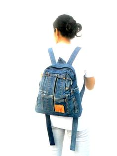 LEVIS jeans backpack denim reclaimed jean bag rucksack