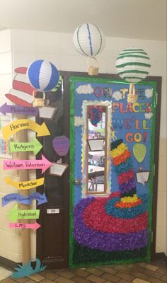 "Dr Seuss Door - Oh the Places You""ll Go! Read Across America"