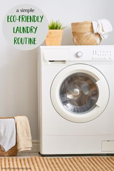 Make your laundry routine safe for your family and eco-friendly too by using non-toxic laundry products and following practices that reduce energy and waste. | #laundry #ecofriendly #zerowaste #nontoxic #cleaning via @MindfulMomma Natural Cleaning Recipes, Homemade Cleaning Products, Natural Cleaning Products, Laundry Pods, Laundry Decor, Chemical Free Cleaning, Eco Friendly House, Diy Cleaners, Green Cleaning