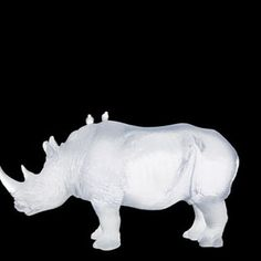 Daum Crystal White Rhinoceros. Biggs Ltd. Gallery. Price $12,120. 1-800-362-0677.