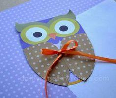 printable owl invitations