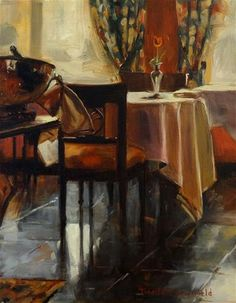 """Breakfast Room"" - Original Fine Art for Sale - © Jonelle Summerfield"