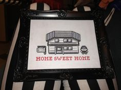 Pokemon - Home Sweet Home Cross Stitch Little Red Stitches