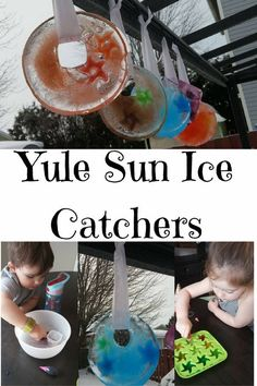 Yule Sun Ice Catchers - Celebrate the Winter Solstice by making beautiful Yule Sun Ice Catchers, alone or with your kids, easy to make with ingredients you already have & fun! Yule Traditions, Winter Solstice Traditions, Winter Activities, Activities For Kids, Learning Activities, Advent Activities, Outdoor Activities, Diy For Kids, Crafts For Kids