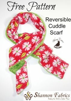 Free Cuddle Fabric Scarf Sewing Pattern to download