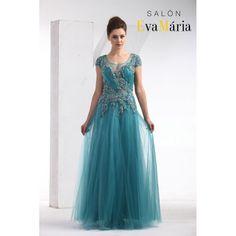 Tyrkysové, modré, jahodové luxusné večerné šaty