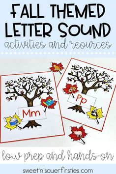 My Beginning Sound Sort activity is an engaging and hands on way for your pre-K, kindergarten, or 1st grade students to work on their alphabet letter identification and letter sounds. This activity is fall themed, and there's a tree for every letter of the alphabet. This could be completed whole group, in small groups, or for centers.
