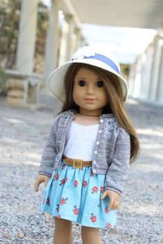 Looking for American Girl Doll clothing and accessory ideas? Visit Clarisse's Closet for doll fashion inspiration, outfit ideas, tutorials, and more! American Girl Outfits, Ropa American Girl, American Girl Doll Pictures, My American Girl Doll, American Girl Crafts, American Doll Clothes, Ag Doll Clothes, Doll Clothes Patterns, Dress Patterns