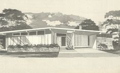 Mid Century Modern House Plans   House Plans, 1960s Homes, Vintage House Plans