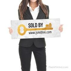 Sold by Sign - Real Estate Testimonial Prop - - different design on each side - thick White PVC Hard Plastic - FREE UPS shipping Selling Real Estate, Real Estate Investing, Real Estate Signs, Instagram Handle, Home Ownership, Cute Quotes, Order Prints, Custom Design, Just For You