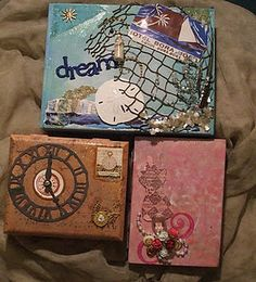I am so going to do this, I have some from my dad! Cigar Box Diy, Cigar Box Crafts, Altered Cigar Boxes, Diy Box, Gag Gifts, Funny Gifts, 50th Birthday Quotes, Gifts For Boss, Neighbor Gifts