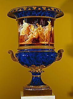 Royal manufacture of Sevres porcelain Vase