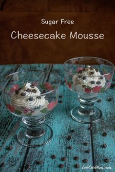 Cheesecake Mousse Shared on https://www.facebook.com/LowCarbZen | #LowCarb #Dessert #Cheesecake