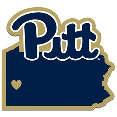 ~Pittsburgh Panthers Decal Home State Pride Style~backorder