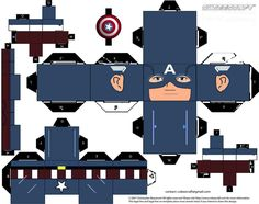 Captain America cubeecraft