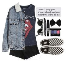 """#233"" by n-janne ❤ liked on Polyvore featuring moda, Vans y Topshop"