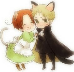 Chibitalia and Holy Rome :) Hetalia
