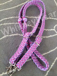Lilac and Raspberry braided barrel reins by WhinneyWear   www.whinneywear.com