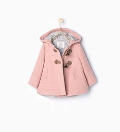 Image 2 of Duffle coat with fur hood from Zara