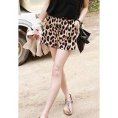 $5.63 Wild Style Leopard Print Casual Shorts For Women