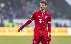 Download wallpapers Thomas Muller, 4k, football, Bayern Munich, Bundesliga, soccer, footballers, FC Bayern Munich
