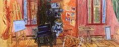 Raoul Dufy,The Studio In Perpignan, La Fruleuse oil painting reproductions for sale