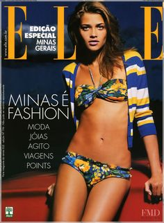 Ana Beatriz Barros featured on the Elle Brazil cover from September 2004