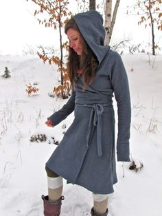 Hemp Winter Wrap Dress by consciousclothing on Etsy, $160.00