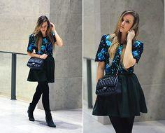H&M Skirt, Chanel Bag, Sacha Shoes