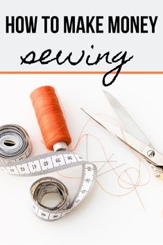 How to make money sewing - ready to take your passion for sewing to the next level? Here are some ways to make money sewing! Sewing Hacks, Sewing Tutorials, Sewing Tips, Homemade Business, Sewing To Sell, Way To Make Money, How To Make, Easy Sewing Patterns, Sewing Rooms